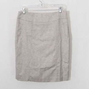 Nine West Pencil Skirt Career Stitch Detail 2110X